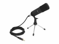 Delock Professional Computer Podcasting Microphone with XLR connector and 3 pin stereo jack male + adapter cable for Smartphone