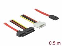 Delock Cable SAS SFF-8482 + Power > 1 x SATA 7 pin 0.5 m