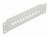Delock 10″ Fiber Optic Patch Panel 12 Port for SC Simplex / LC Duplex 1U grey
