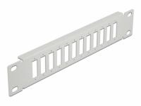 Delock 10″ Fiber Optic Patch Panel 12 Port for SC Duplex / LC Quad 1U grey