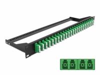 Delock 19″ Fibre Patch Panel 24 port LC Quad green