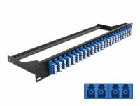 Delock 19″ Fibre Patch Panel 24 port LC Quad blue