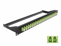 Delock 19″ Fibre Patch Panel 24 port LC Duplex limegreen