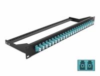 Delock 19″ Fibre Patch Panel 24 port LC Duplex aqua