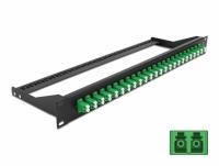 Delock 19″ Fibre Patch Panel 24 port LC Duplex green