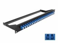 Delock 19″ Fibre Patch Panel 24 port LC Duplex blue