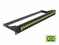 Delock 19″ Fibre Patch Panel 24 port SC Simplex limegreen