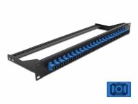 Delock 19″ Fibre Patch Panel 24 port SC Simplex blue