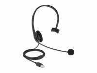 Delock USB Mono Headset with Volume Control for PC and Laptop - Ultra Lightweight