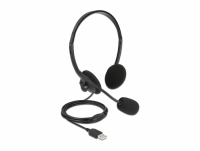 Delock USB Stereo Headset with Volume Control for PC and Laptop - Ultra Lightweight