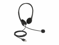 Delock USB Stereo Headset with Volume Control for PC and Laptop