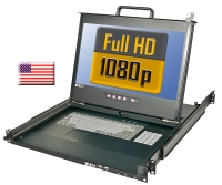 "Lindy Full HD DVI 17"" / 44cm LCD KVM Terminal PRO USB 2.0, US Layout"