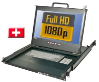 "Lindy Full HD DVI 17""/ 44cm LCD KVM Terminal PRO USB 2.0, CH Layout"