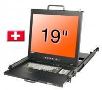 "Lindy 19"" LCD KVM Console Dual Rail, CH layout"