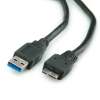 ROLINE USB 3.0 Cable, USB Type A M - USB Type Micro B M 0.8 m