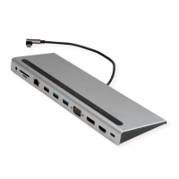 Value USB 3.2 Gen 2 Type C Multiport Docking Station, 4K HDMI/DP, VGA, 2x USB 3.2 Gen