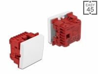 Delock Easy 45 1-gang Switch 1-pole 2-way 45 x 45 mm, white