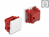 Delock Easy 45 1-gang Switch 2-pole 1-way 45 x 45 mm, white