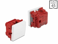 Delock Easy 45 1-gang Switch 1-pole 1-way 45 x 45 mm, white