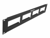 Delock Easy 45 19″ Patch Panel cut-out 4 x 90.5 x 45.2 mm, 2U, black