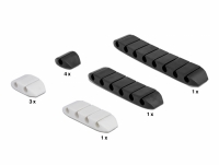 Delock Cable holder trapezoid self-adhesive combo set 10 pieces black / white