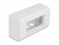 Delock Surface-mounted Housing for Easy 45 Modules 152 x 82 mm, white