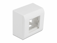 Delock Surface-mounted Housing for Easy 45 Modules 82 x 82 mm, white