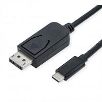 ROLINE Type C - DisplayPort Cable, v1.4, M/M, 1 m