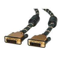 ROLINE GOLD Monitor Cable, DVI M - DVI M, (24+1) dual link 5 m