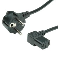 VALUE Power Cable, angled IEC Connector 1.8 m