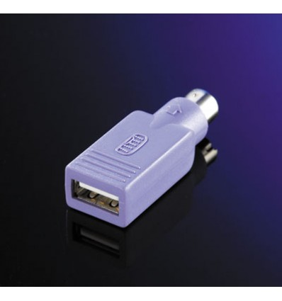 VALUE PS/2 to USB Adapter, Keyboard purple