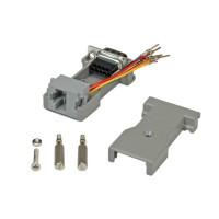 ROLINE DB9 plug - RJ-45 socket 8P / 8C 8-Wire