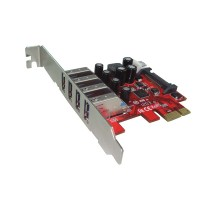 ROLINE PCI-Express Adapter, 4x USB 3.0, 5 Gbit/s