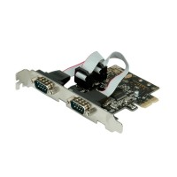 VALUE PCI-Express Adapter, 2x Serial RS232 D-Sub 9 Ports