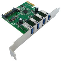 VALUE PCI-Express Adapter, 4x USB 3.0, 5 Gbit/s