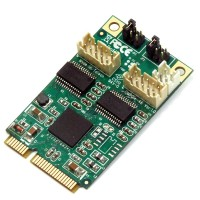 ROLINE 2x Serial RS232 Mini PCIe Card
