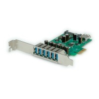 ROLINE PCI-Express Adapter, 6x+1x USB 3.0