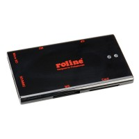 ROLINE USB 2.0 Notebook Card Reader 50+ black